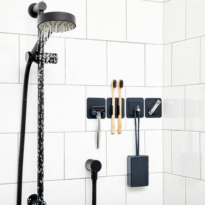 Tooletries The 4-in-1 Bathroom Storage Tile Series Organizers in Shower
