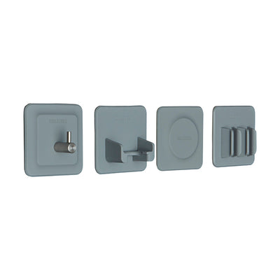 Tooletries The 4-in-1 Bathroom Storage Tile Series Organizers - Gray