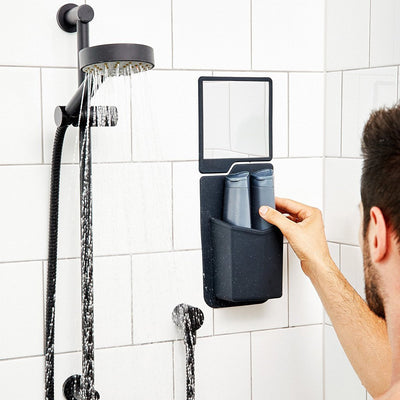 Tooletries The Frank & Oliver Set - Shower Caddy & Mirror in Shower