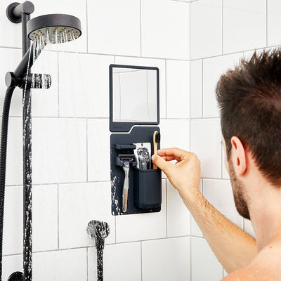 Tooletries The Harvey & Oliver Set Razor Holder & Mirror in Shower