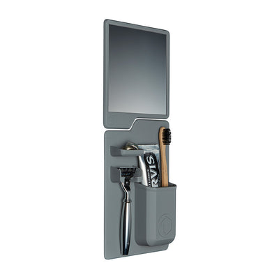 Tooletries The Harvey & Oliver Set Razor Holder & Mirror - Gray