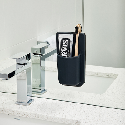 The Henry Tooletries Toothbrush Holder Slim on Mirror