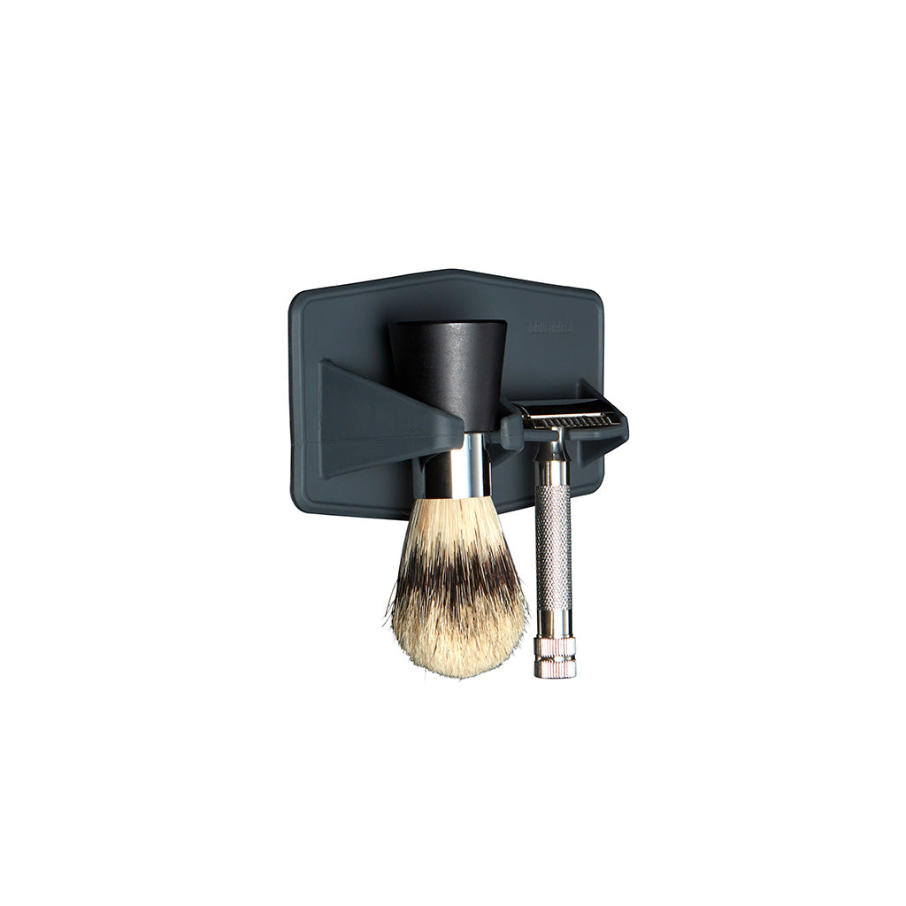 The Maverick Razor & Brush Rack White Background