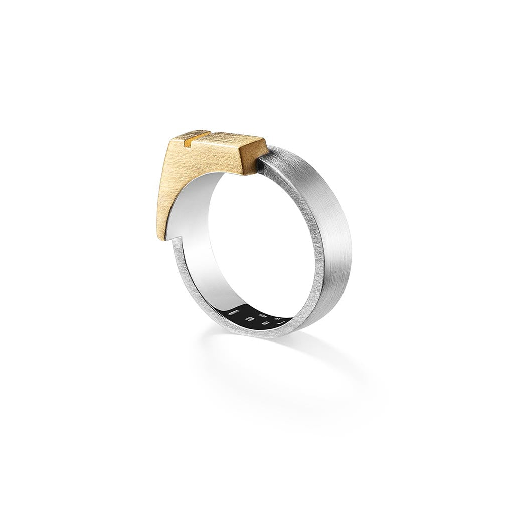 Ursul Gold and Silver Signet Ring Unity