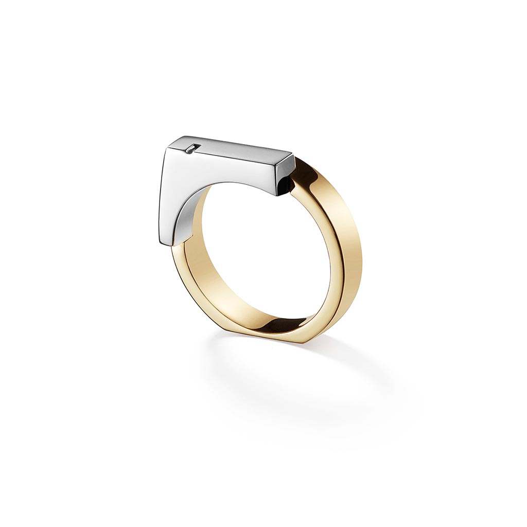 Ursul Unity Gold and Silver Women Signet Ring