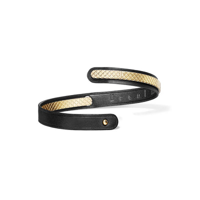 Ursul Uraeus 8 Women's Black Leather Bracelet