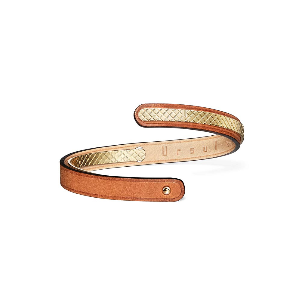 Uraeus 8 Women's Camel Leather Bracelet