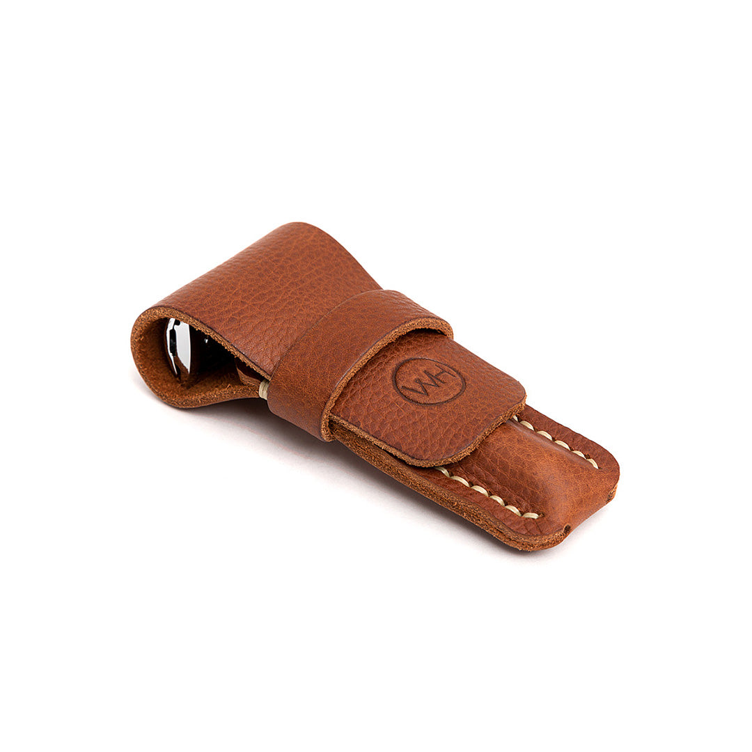 Wilde & Harte leather safety razor case