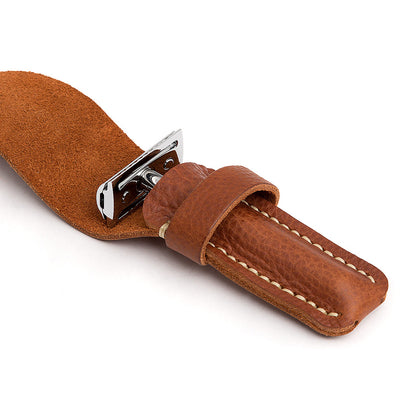 leather safety razor pouch
