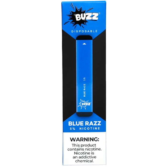 BUZZ Pre-Filled Disposable Pod Blue Razz Berry Flavor available at the best prices on at Smokly.com