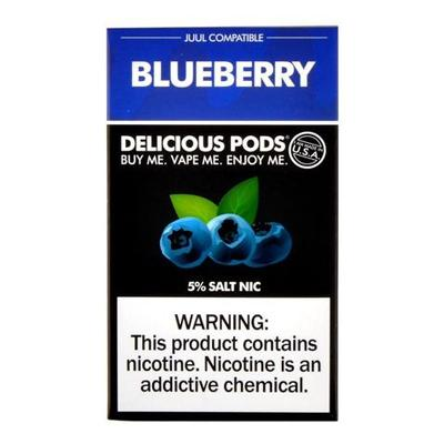 Delicious Pods Nicotine Salt 1ML Prefilled Replacement Compatible Pods - Blueberry