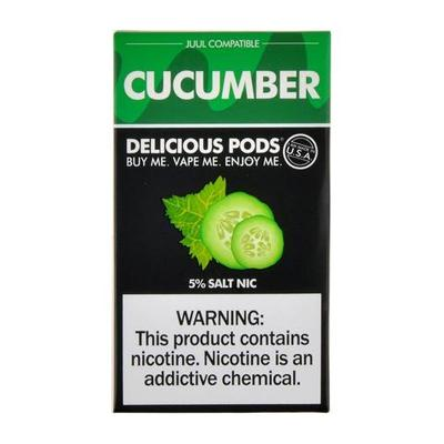 Delicious Pods Nicotine Salt 1ML Prefilled Replacement Compatible Pods - Cucumber