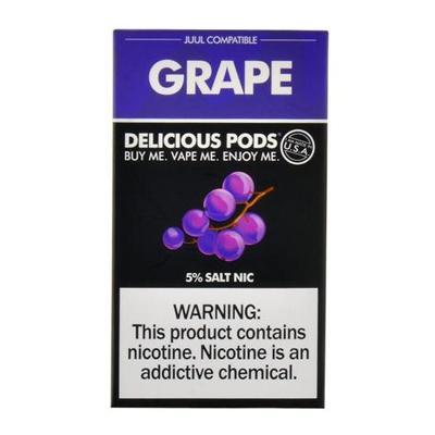 Delicious Pods Nicotine Salt 1ML Prefilled Replacement Compatible Pods - Grape