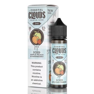 Iced Apple Peach Strawberry - Coastal Clouds Co. - 60mL