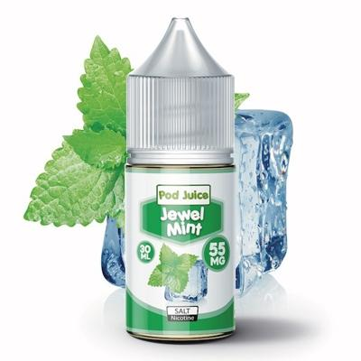 Pod Juice Nicotine Salt E-Liquid - Jewel Mint 30ML