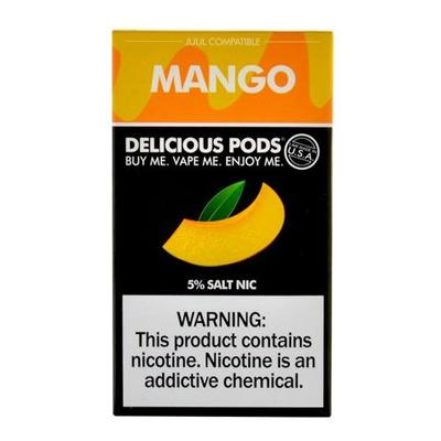 Copy of Delicious Pods Nicotine Salt 1ML Prefilled Replacement Compatible Pods - Mango