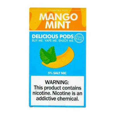 Delicious Pods Nicotine Salt 1ML Prefilled Replacement Compatible Pods - Mango Mint