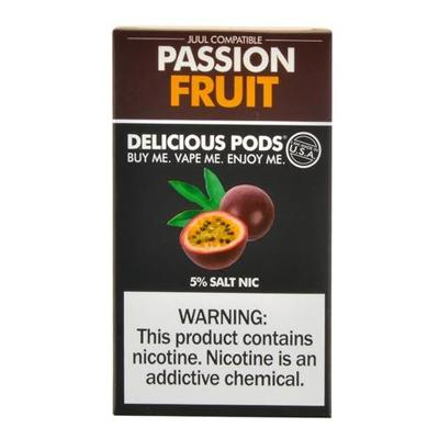 Delicious Pods Nicotine Salt 1ML Prefilled Replacement Compatible Pods - Passion Fruit