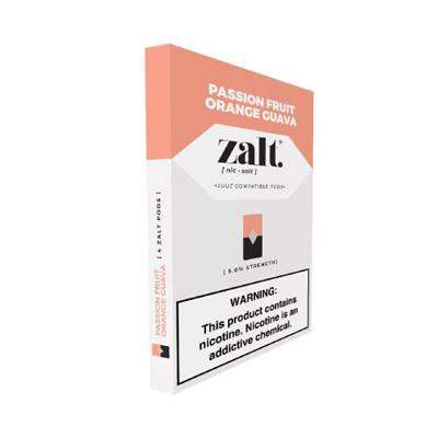 Zalt Prefilled Nicotine Salt Compatible Pods - Passion Fruit Orange Guava (P.O.G)