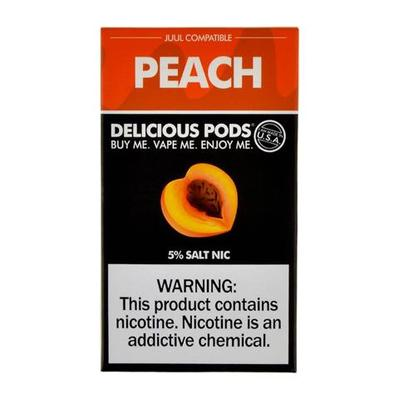 Delicious Pods Nicotine Salt 1ML Prefilled Replacement Compatible Pods - Peach