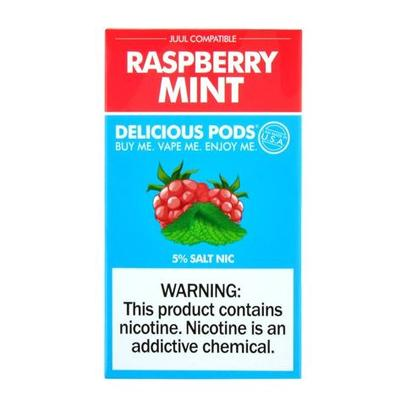 Delicious Pods Nicotine Salt 1ML Prefilled Replacement Compatible Pods - Raspberry Mint