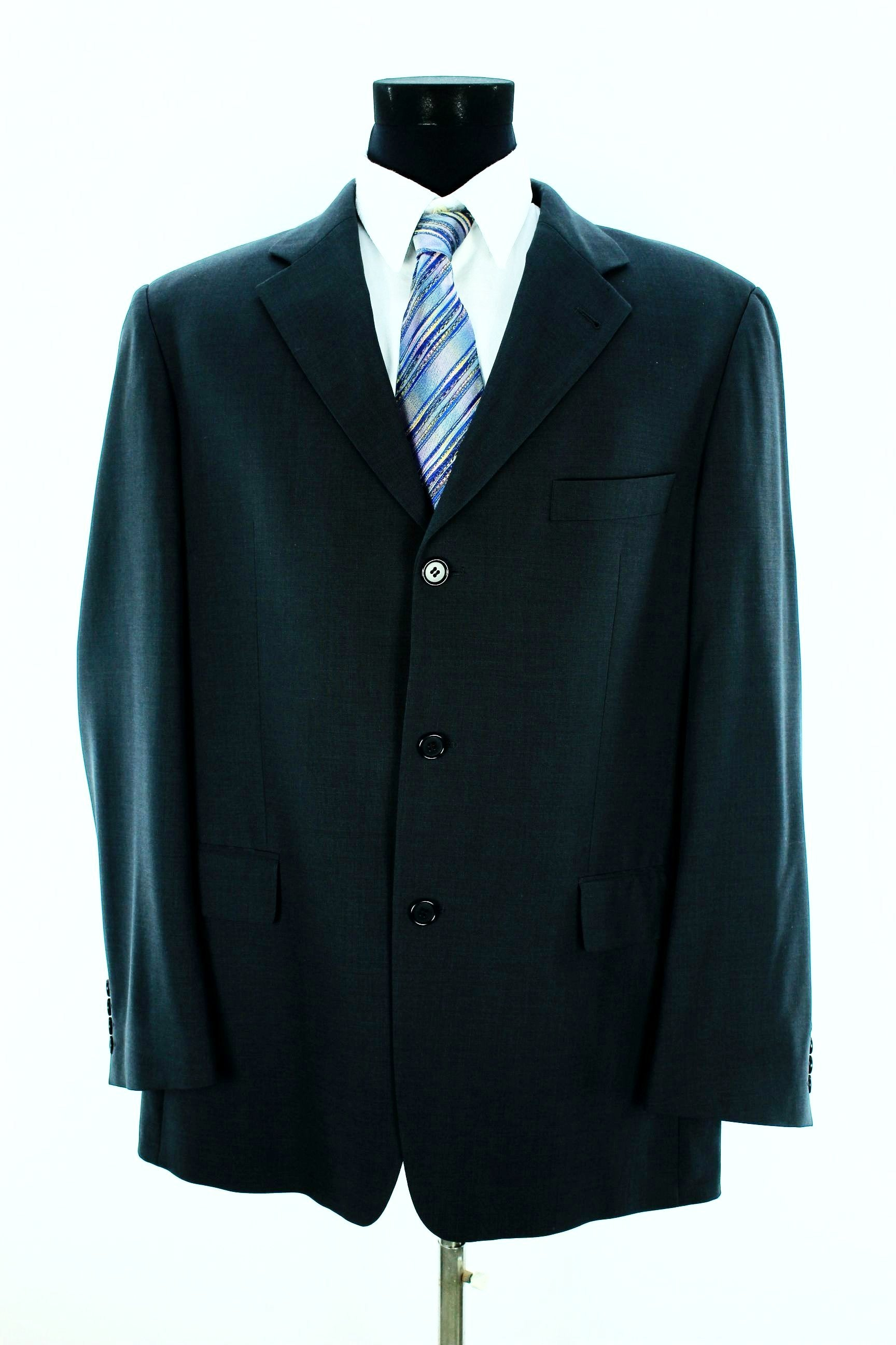 dbc9afb1 HUGO BOSS Men's Angelico Parma Blazer Size 52 Charcoal Black Virgin Wool