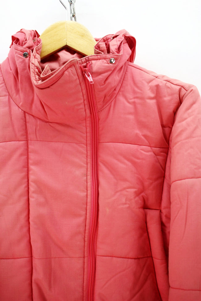 Vintage Women's Colmar Padded Jacket in Pink Hooded Long Puffer Coat, Coat's & Jacket's, Colmar, - Top-Garms