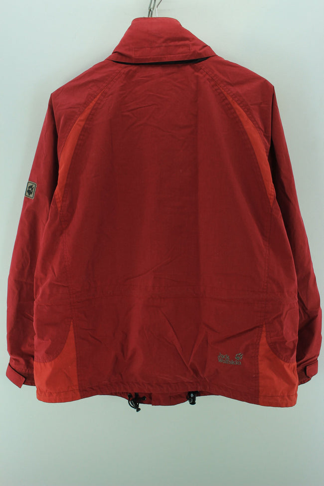 Jack Wolfskin Women's Outdoor Jacket in Red Size 18 XL Full Zip Coat, Coat's & Jacket's, Jack Wolfskin, - Top-Garms