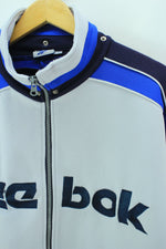 Vintage Reebok Track Jacket White & Blue Size 4 L Full zip Track Top, Tracksuit, Reebok, - Top-Garms