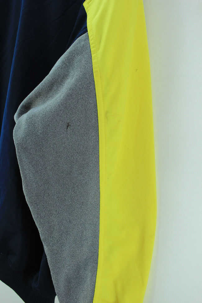 Vintage Nike Track Jacket Blue & Yellow Size 42 44 L Full zip Track Top, Tracksuit, Nike, - Top-Garms