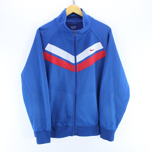 Vintage Men's Nike Track Jacket in Blue Size XL Long Sleeve Track Top
