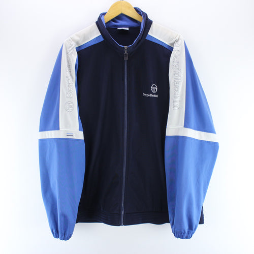 Sergio Tacchini Men's Track Jacket in Blue Size 2XL Long Sleeve Track Top