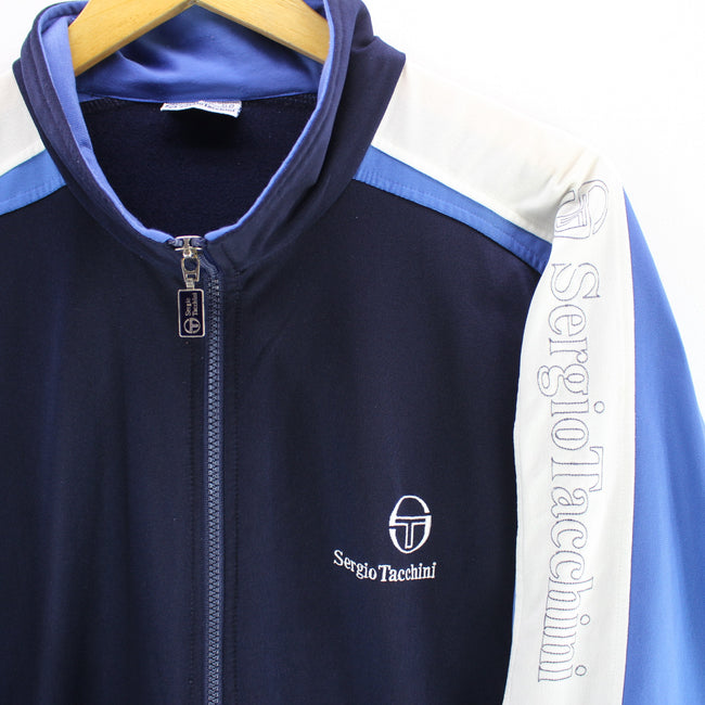 Sergio Tacchini Men's Track Jacket in Blue Size 2XL Long Sleeve Track Top, Tracksuit, Sergio Tacchini, - Top-Garms