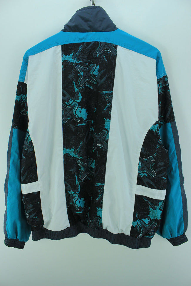 Vintage Tracksuit Jacket Size XL Full Zip Multi Color Tracktop, Tracksuit, Top-Garms, - Top-Garms