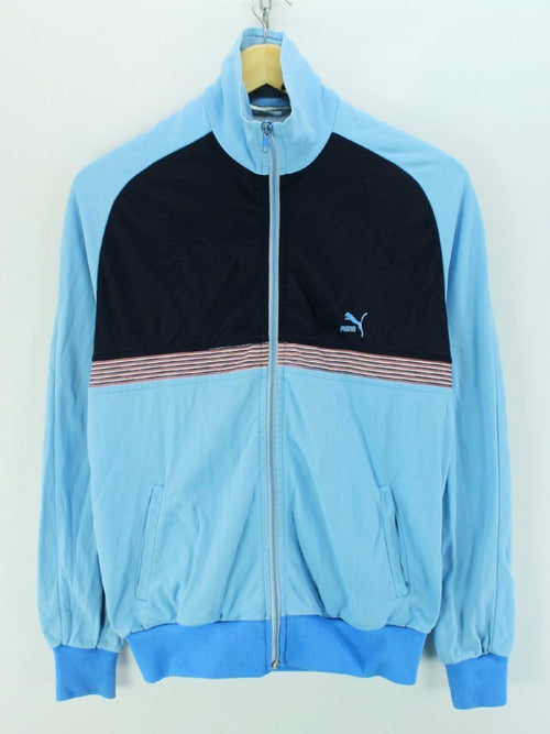 Vintage PUMA Track Jacket In Blue Size 5 S Full Zip Tracktop