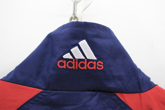 Vintage Adidas Men's Tracksuit Jacket, Size 42 / 44 XL red blue tracktop, Tracksuit, Adidas, - Top-Garms