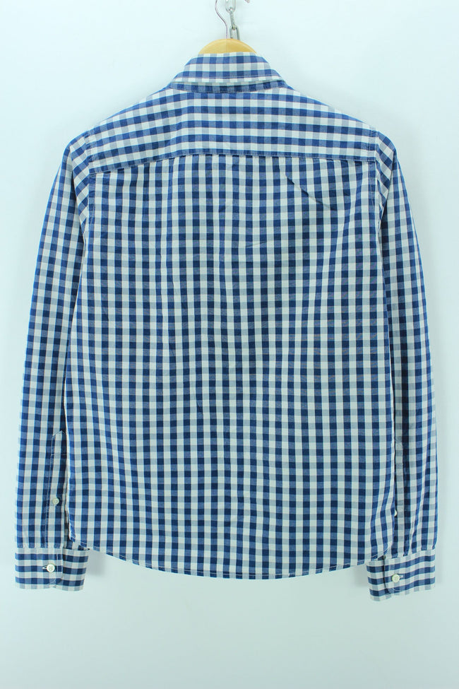 Hollister Men's Shirt Size M Blue Checkered Long Sleeves Western Shirt, Shirt, Hollister, - Top-Garms