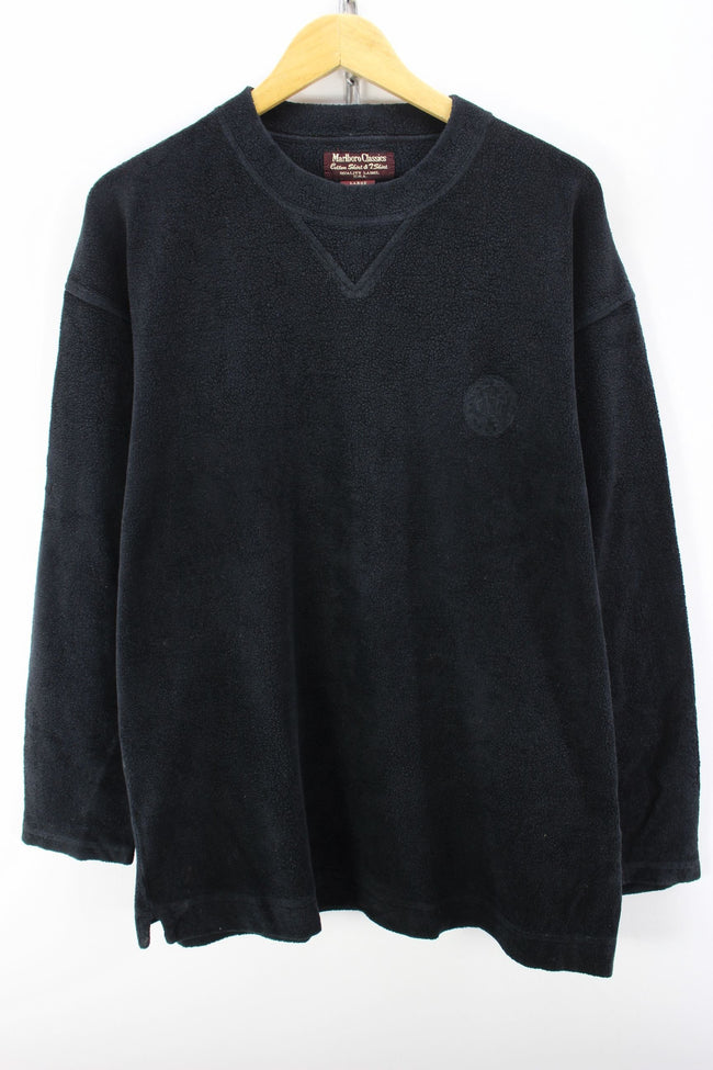 Marlboro Classics Men's Sweater in Black Size L Long Sleeves Jumper, Jumper Sweater, Marlboro Classics, - Top-Garms