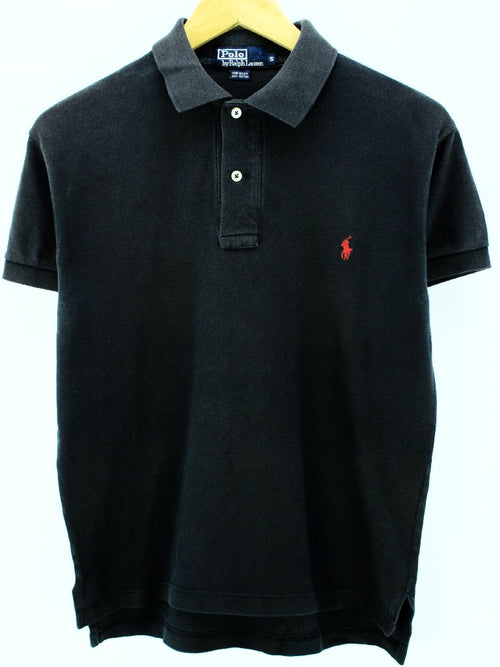 Ralph Lauren Men's Polo Shirt in Black Size L Made in USA