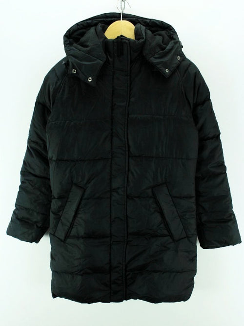 Helly Hansen Men's Down padded Long Coat Size XS hooded Jacket in Black