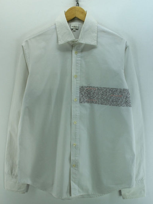 Calvin Klein Men's Shirt Size XL White Long Sleeve Cotton Casual Shirt