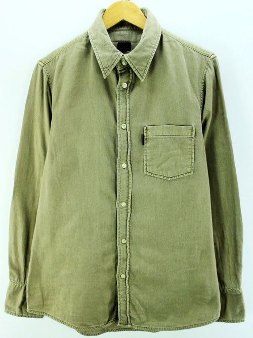 Calvin Klein Men's Slim Fit Shirt in Olive Green Size L Thick Shirt