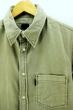 Calvin Klein Men's Slim Fit Shirt in Olive Green Size L Thick Shirt - Top-Garms