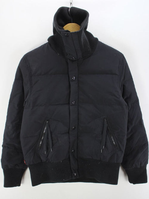 Levi's Women's Down Jacket in Black Size M Full Zip Puffer Jacket