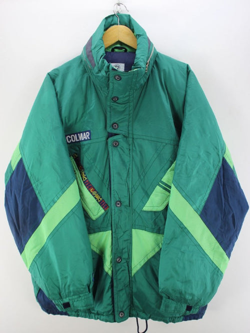 Vintage Colmar Ski Jacket in Green Size 44 2XL Warm Skidoo Coat