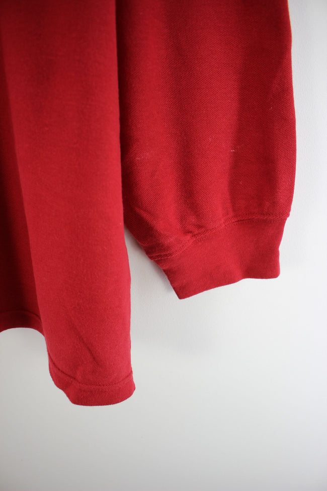 Chaps Rugby Shirt in Red Size 2XL Long Sleeves Cotton Polo Shirt, Polo Shirt, Chaps, - Top-Garms