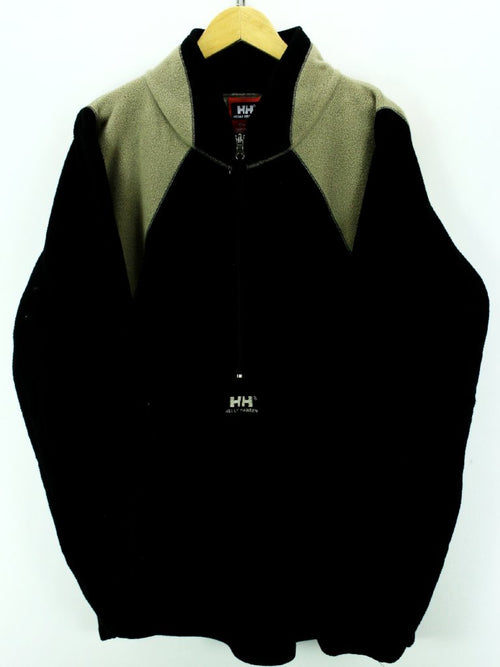 Helly Hansen 1/2 Zip Fleece Jacket in Black Size 2XL Outdoor Fleece