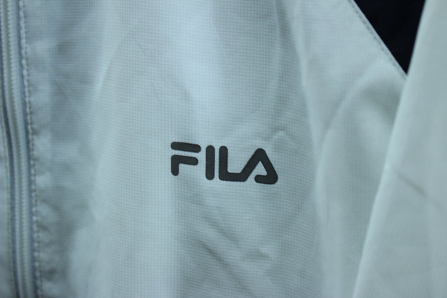 FILA Men's Track Jacket Size L, White Longsleeves full zip Tracktop, Tracksuit, FILA, - Top-Garms