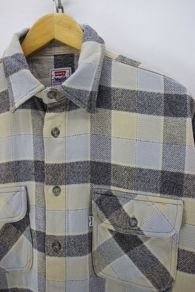 Vintage Levi's Men's Flannel Shirt, Size L, Western Shirt, Cotton, Plaids, Shirt, Levi's, - Top-Garms