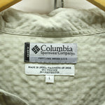 Columbia Men's Shirt Size L Long Sleeve Button Down Neck Casual Ivory Top, Shirt, Columbia, - Top-Garms